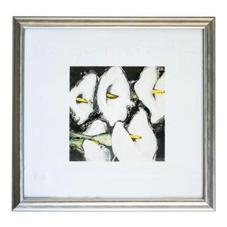 """Slant Select - Donald Sultan """"Lilies"""" For Sale"""
