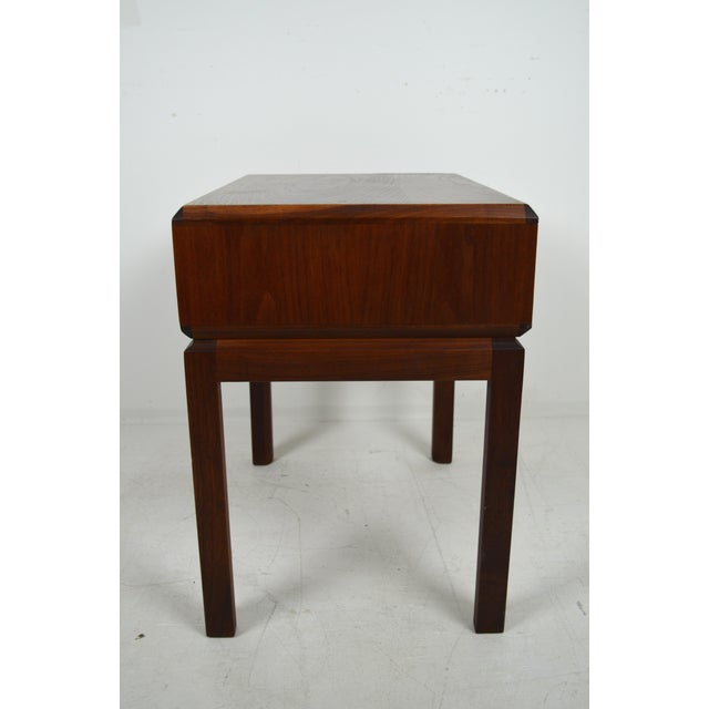 1960s 1960s Mid Century Modern Founders Furniture Co. Walnut Nightstand For Sale - Image 5 of 10