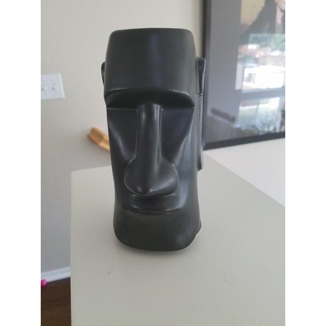 Great vintage Face Vase in Matte Black finish.
