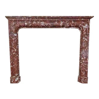 Rust Marble Mantel, circa 1860 For Sale