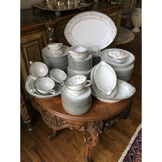 Vintage Noritake # 5807 Edgewood Service for 12 Dinnerware - 94 Pieces,reduced Final For Sale - Image 10 of 12