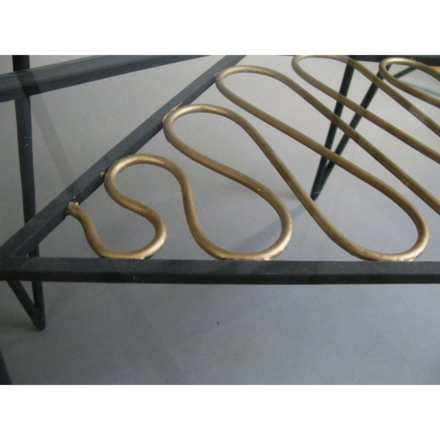 Vintage Pair of Iron and Gilt Ribbon Tables For Sale In New York - Image 6 of 8