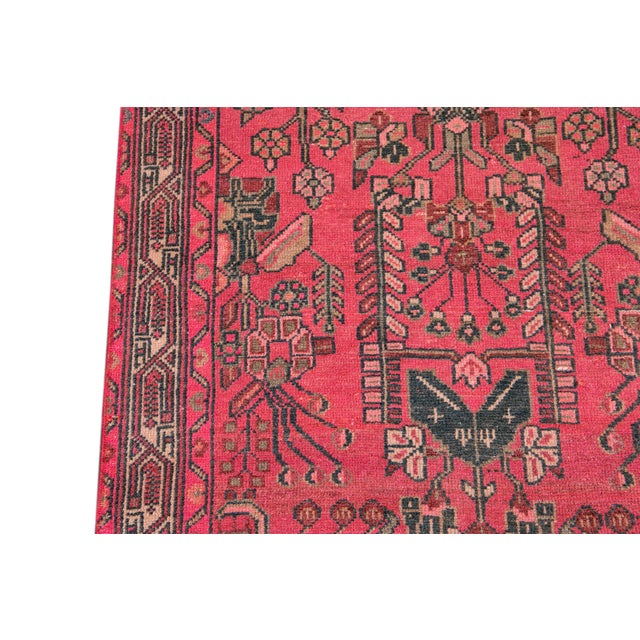Pink Vintage Malayer Wool Runner For Sale - Image 8 of 11