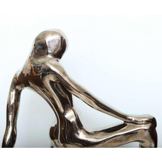 Silver Jaru Kneeling Female Figure For Sale - Image 8 of 9
