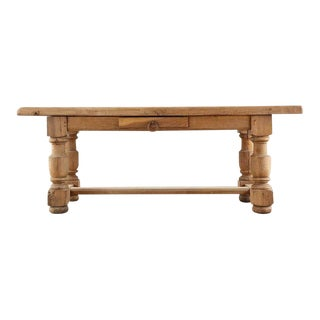 19th Century Country French Oak Farmhouse Dining Table For Sale