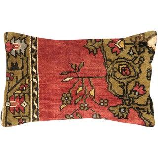"""1960s Turkish Oushak Lumbar Pillow 15"""" X 24"""" For Sale"""