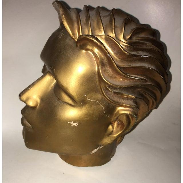 Art Deco Vintage Fiberglass Man Mannequin Head For Sale - Image 3 of 13