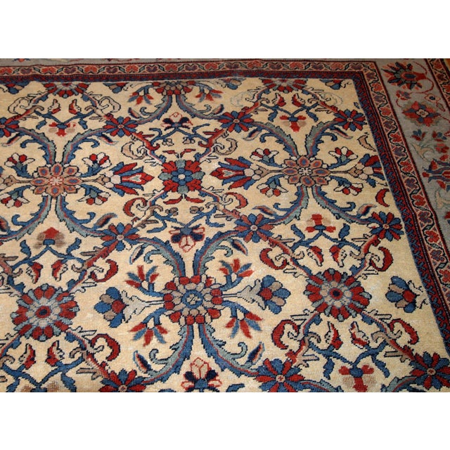 Early 20th Century 1900s Handmade Antique Persian Mahal Rug 9.2' X 11.6' For Sale - Image 5 of 11