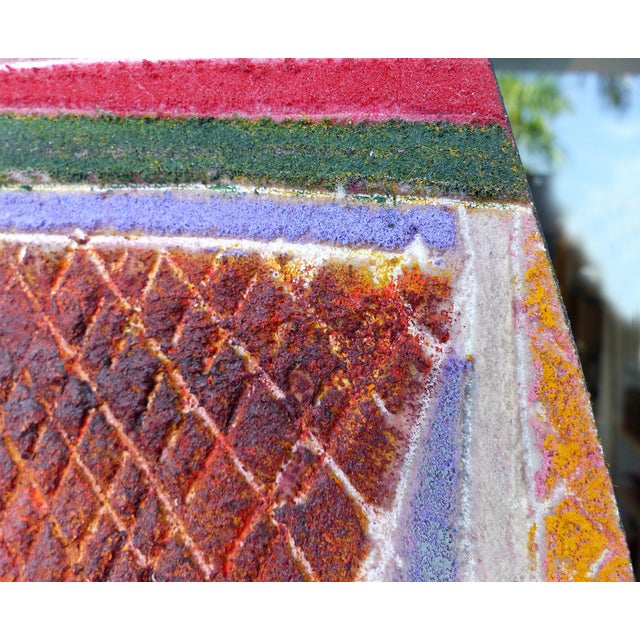 """""""Primitive Geometric Spear"""" Mixed Media Painting For Sale - Image 9 of 13"""