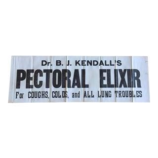 Antique Pectoral Elixir Medical Print Sign