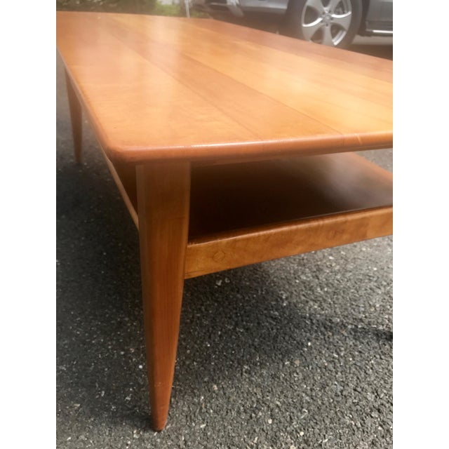 Mid-Century Two Level Maple Coffee Table For Sale In New York - Image 6 of 8