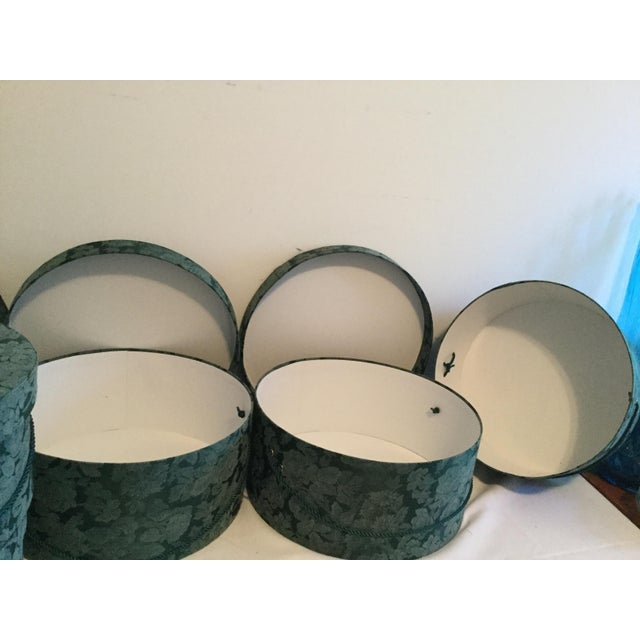 Vintage Fabric Covered Hat Boxes For Sale - Image 10 of 12