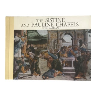 "1975 ""The Sistine and Pauline Chapels in the Vatican"" First Edition Art Book For Sale"