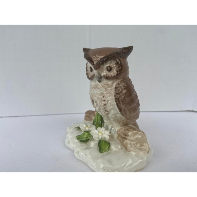 Mid Century Bone China Owl Figurine For Sale In Orlando - Image 6 of 9