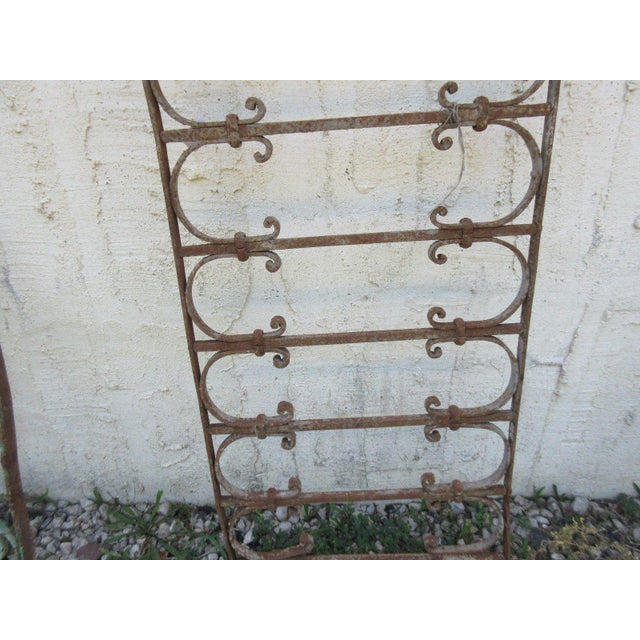 Antique Victorian Iron Gate Architectural Element - Image 5 of 7