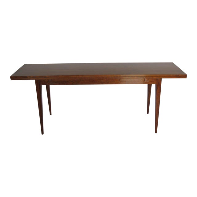 1950s Mid-Century Modern Edward Wormley for Dunbar Walnut Console For Sale - Image 10 of 10