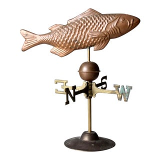 Vintage Copper Fish Weathervane For Sale