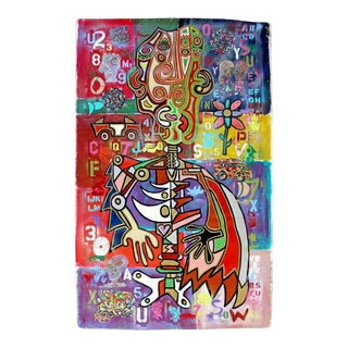 Contemporary Acrylic Graffiti Art Painting on Canvas Rodney Denne Lanos 2000s For Sale