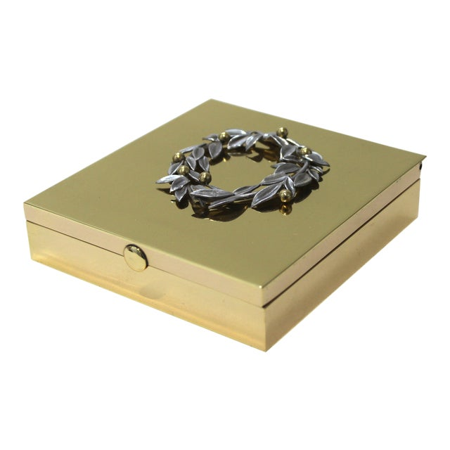 Vintage Vassilis Zoulias. Brass Box For Sale