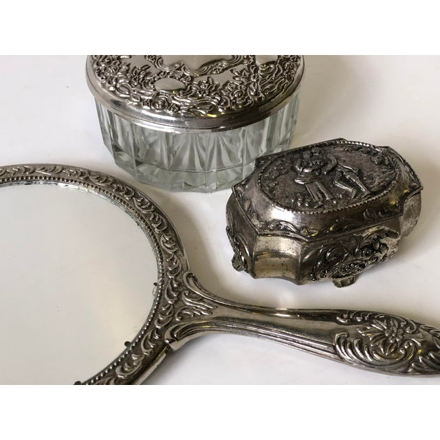 Three Piece Silverplate Dresser Set - Set of 3 For Sale - Image 10 of 11