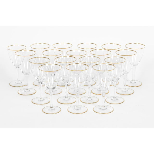 Baccarat Vintage Baccarat Wine / Water Glassware - Service for 18 People For Sale - Image 4 of 13
