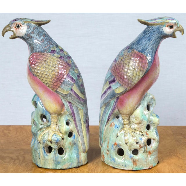 Contemporary Pair of Vintage Heavy Porcelain Bird Form For Sale - Image 3 of 9