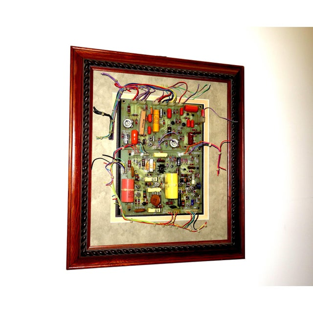 Mid 20th Century Mid Century Component Art Wall Sculpture by Bill Reiter. Wood Framed & Matted. For Sale - Image 5 of 13