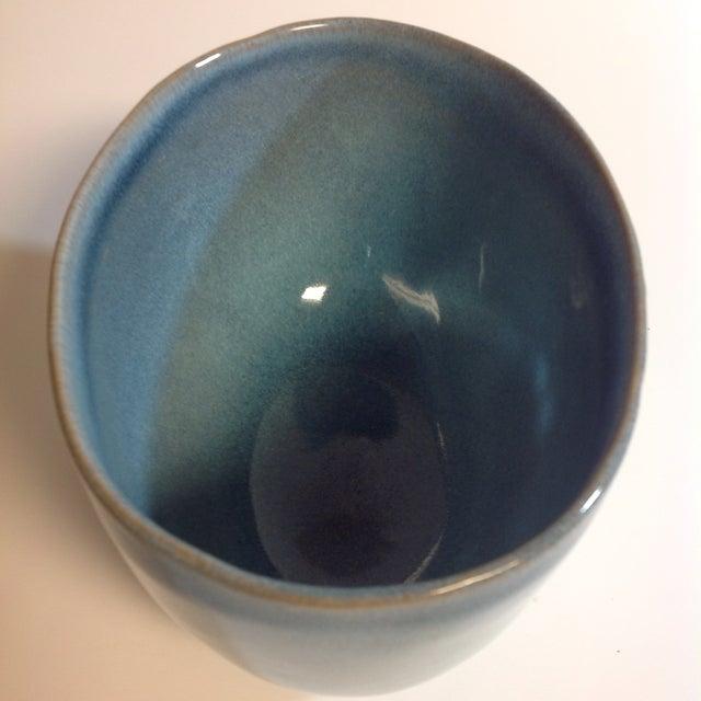Rare Vintage Shape #37 Blue Glidden Pottery Bowl - Image 3 of 6