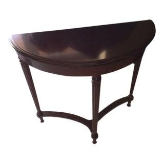 Mahogany Plain Console Table For Sale