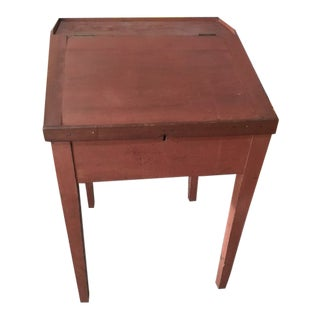 Primitive Country Slant Front Merchant or School Master's Desk For Sale