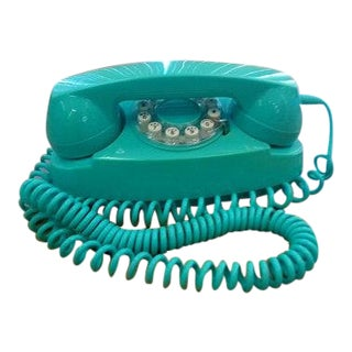 1960s Vintage Princess Aqua Telephone For Sale