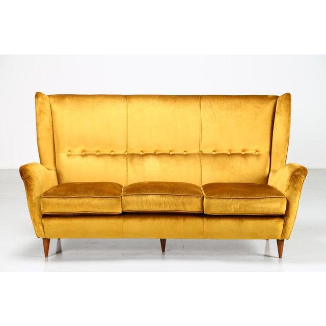 Mid 20th Century Gio Ponti - Isa - Bergamo / I.s.a., Italy Sofa Gio Ponti for Isa Bergamo of 1950 For Sale - Image 5 of 5