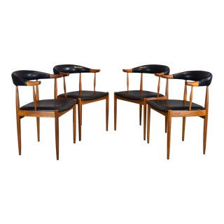 Set/4 Danish Teak Dining Chairs From B. Altman For Sale