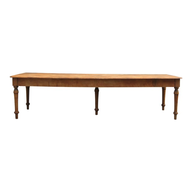 Grand Antique Farm Kitchen Table, 10' Length - Image 1 of 9