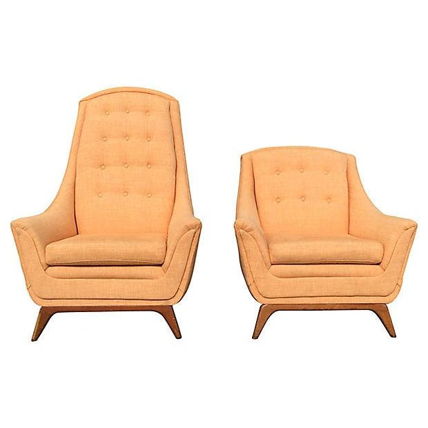 Mid-Century Modern Adrian Pearsall His & Hers Lounge Chairs - A Pair For Sale - Image 5 of 5
