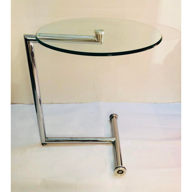 2000 - 2009 Morn Chrome Finished Stainless Steel Base Side Table For Sale - Image 5 of 5