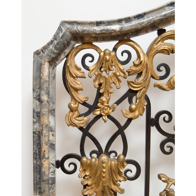 Antique Marble Fireplace Screen - Image 3 of 8