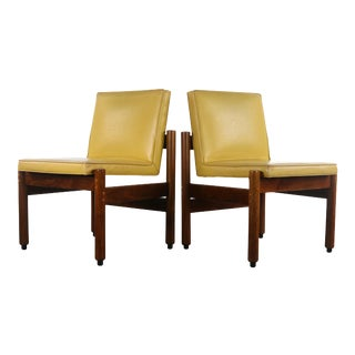 Stunning Set of Two (2) Mid Century Modern Slipper Lounge Chairs By Thonet For Sale
