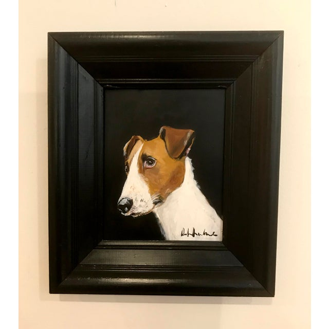 This Parsons Jack Russell terrier ....fitting in any country home from the Black label collection by the dog artist Robert...
