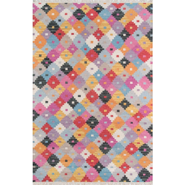 "Momeni Caravan Hand Woven Multi Wool Area Rug - 7'6"" X 9'6"" For Sale In Atlanta - Image 6 of 6"