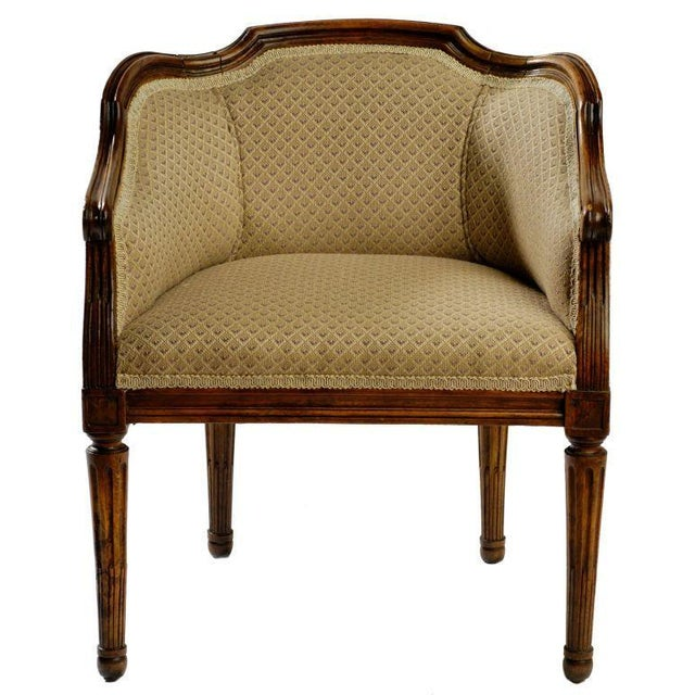Tan Child Size Louis XVI Bergere For Sale - Image 8 of 8