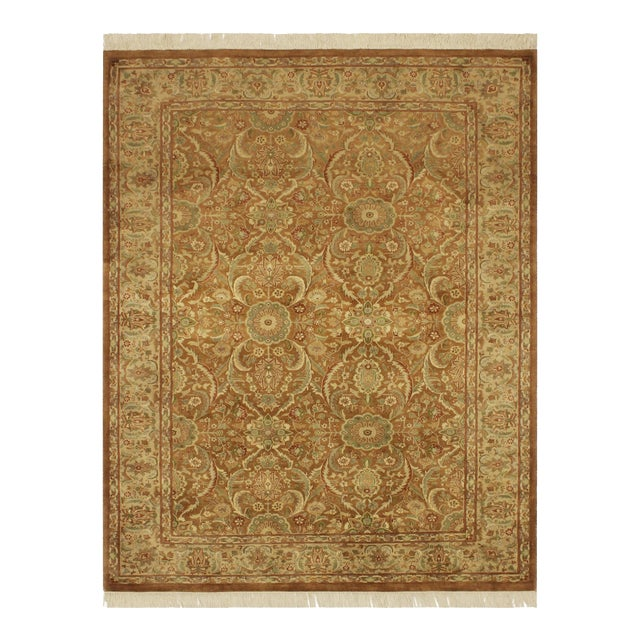 Pak-Persian Jenise Lt. Brown/Lt. Tan Wool Rug - 4'7 X 6'11 For Sale