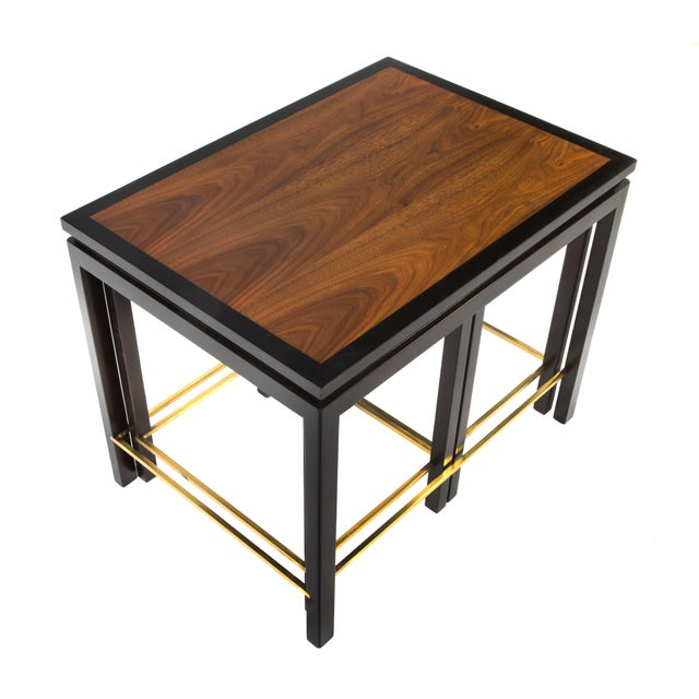 SET OF THREE NESTING TABLES BY EDWARD WORMLEY FOR DUNBAR, CIRCA 1950S - Image 9 of 11