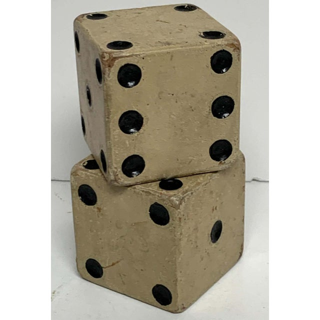 Scale Vintage Wooden Casino Dice - a Pair For Sale In West Palm - Image 6 of 7