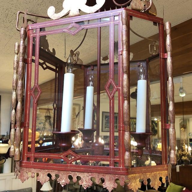 Lights Vintage Chinoiserie Lantern Pendant For Sale - Image 7 of 13
