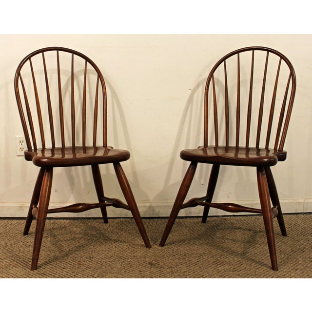 Pair of Contemporary Duckloe Bros Cherry Hoop-Back Windsor Side Chairs What a find. Offered is a Pair of Contemporary...