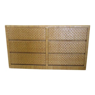 Island Style Rattan Woven Chest of Drawers