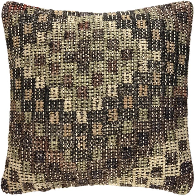 """Mid-Century Modern ReClaimed Earth Tone Kilim Pillow 