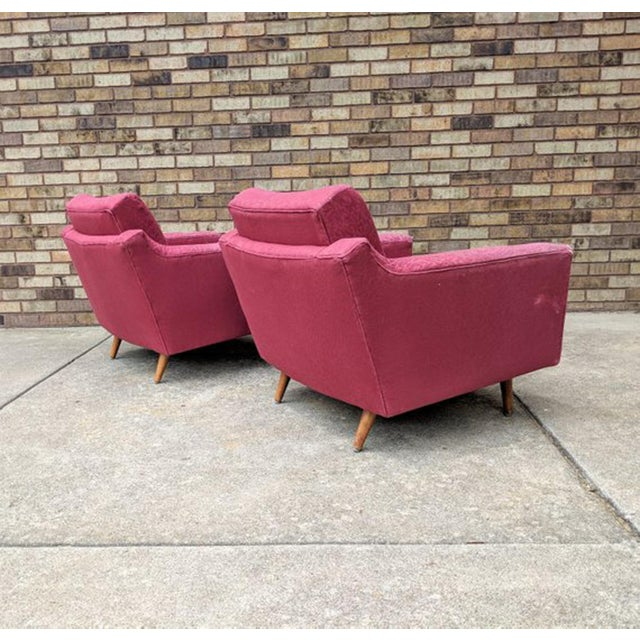 Danish Modern 1960s Mid Century Modern Lawrence Peabody Style Lounge Chairs - a Pair For Sale - Image 3 of 10