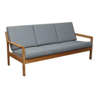 1950s Mid Century Modern FDB Oak Sofa For Sale